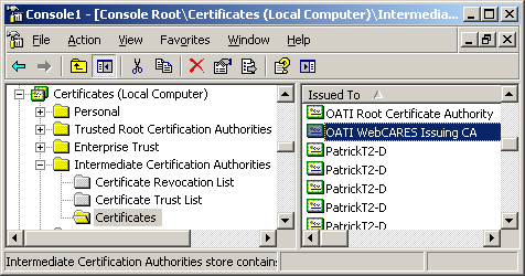 Renewal of the webCARES Root and Issuing CA certificates FAQ's